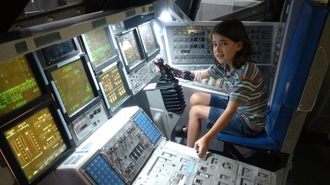 Kennedy Space Center com crianças
